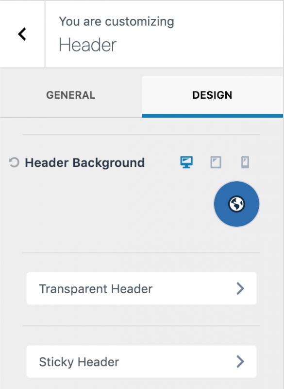 Kadence Theme WordPress Customizer Design