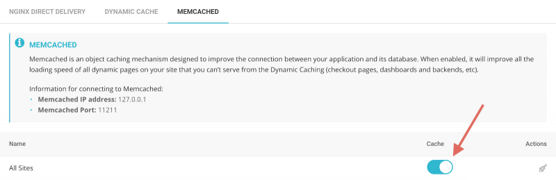 SiteGround Site Tools Memcached