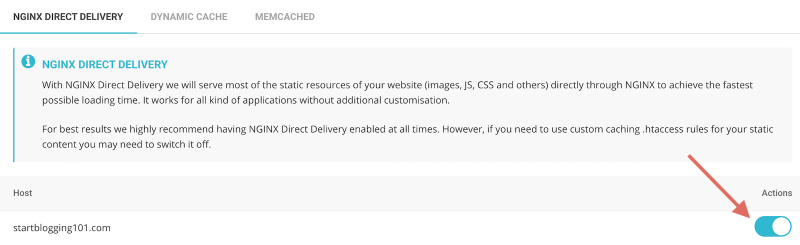 SiteGround Site Tools Nginx Direct Delivery