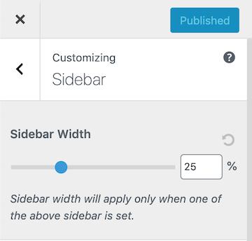 Astra Sidebar Width Options