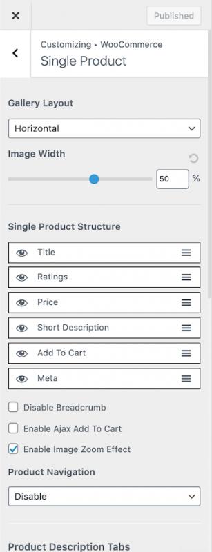 Astra WooCommerce Single Product Layout Options