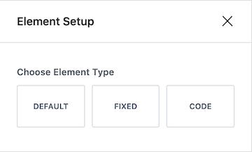 Kadence Hooked Elements Element Type Default Fixed or Code