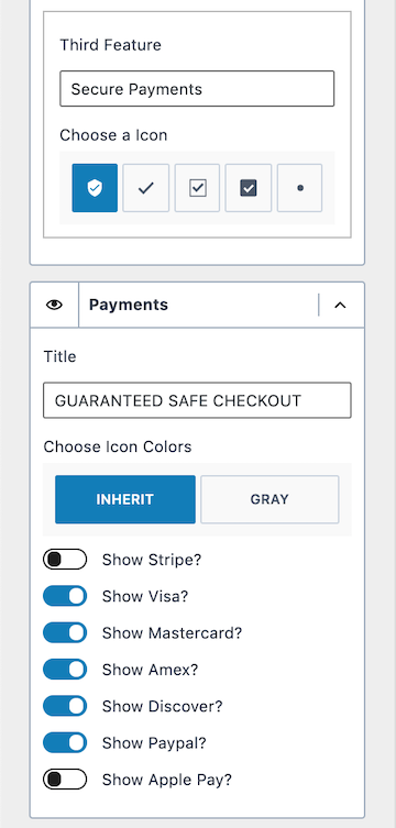 Kadence WooCommerce Free Payment Credit Card Options