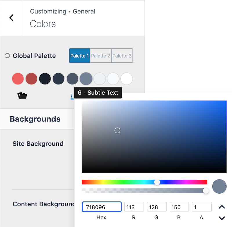 How to Use Kadence Global Color Palette Contrast Colors