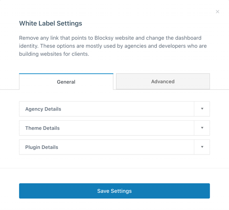 Blocksy Pro White Label General Settings Agency Bundle Only