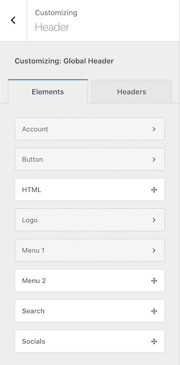 Free Blocksy Theme Header Elements