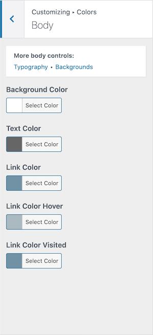 GeneratePress Premium Body Theme Color Options