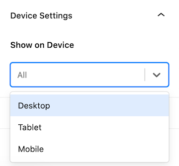 How to Use Kadence Hooked Elements Device Settings Tutorial