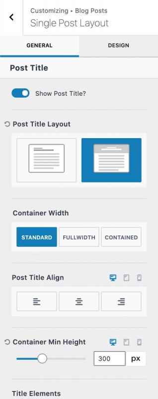 Kadence Theme Pro Single Post Layout Customization Options 1