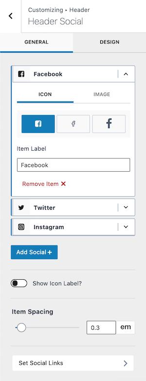 Kadence vs GeneratePress Social Icons Widget Kadence Version