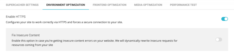 SiteGround SG Optimizer Plugin Environment Optimization Enable Https Fix Insecure Content