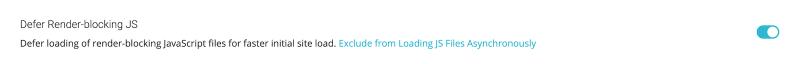 Best SG Optimizer Settings Defer Render-Blocking JS Enabled
