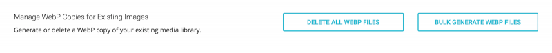SiteGround SG Optimizer Manage WebP Copies For Existing Images Delete or Bulk Generate Files