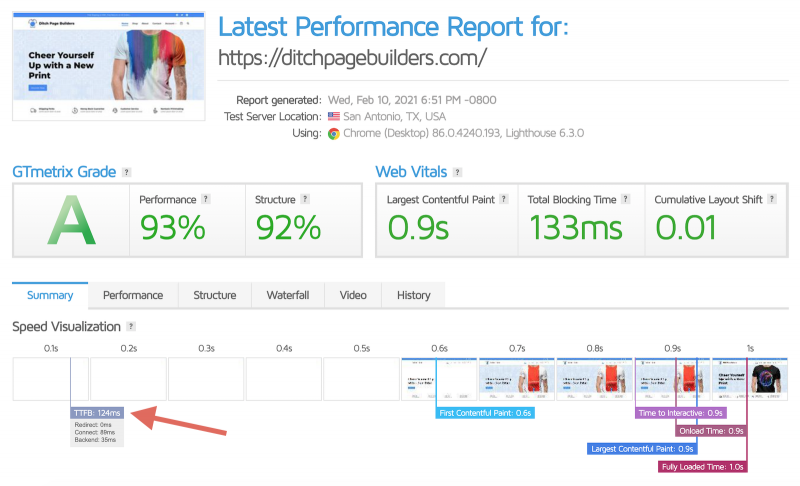 Cloudways Speed Performance Review Vultr HF Server WooCommerce and Gutenberg Website