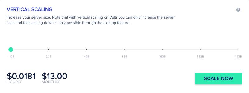 Cloudways Vertical Scaling Vultr HF Server Management