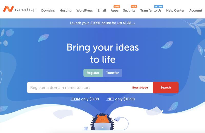 Namecheap Register a New Domain Name