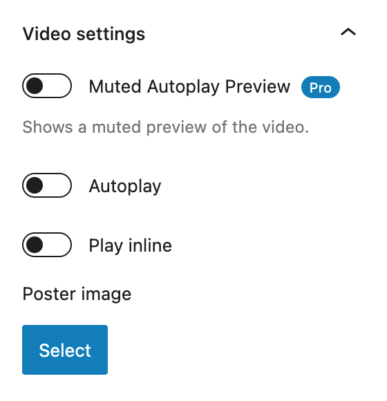 Presto Player Review Video Settings Panel