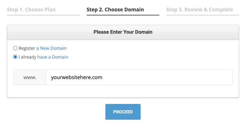 SiteGround Hosting I Already Have a Domain