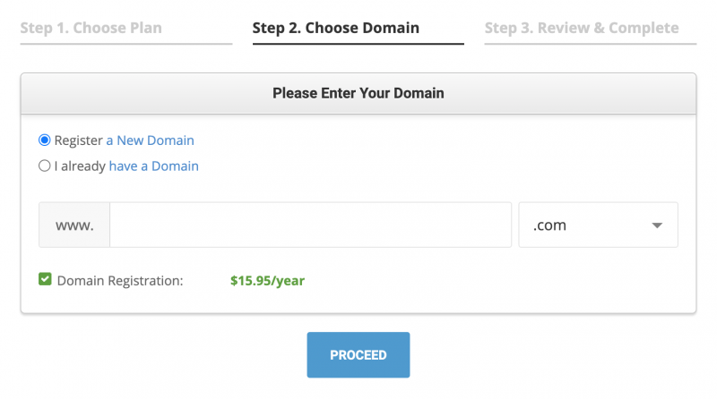 SiteGround Hosting Register a New Domain