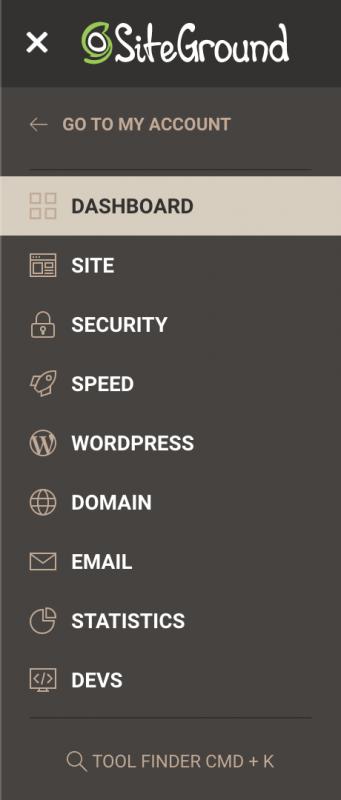 SiteGround Site Tools Sidebar
