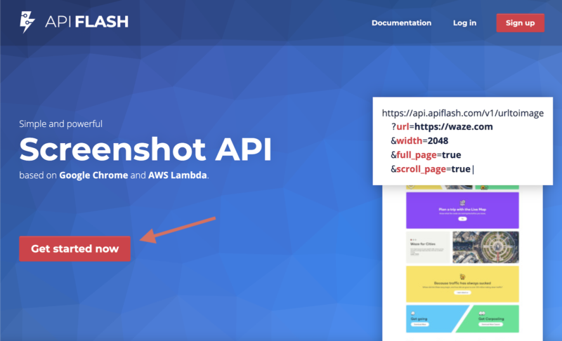 Create an Account With API Flash Get Started Now