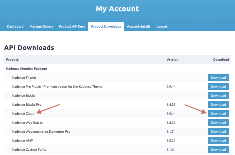 How to Download Kadence Cloud Plugin