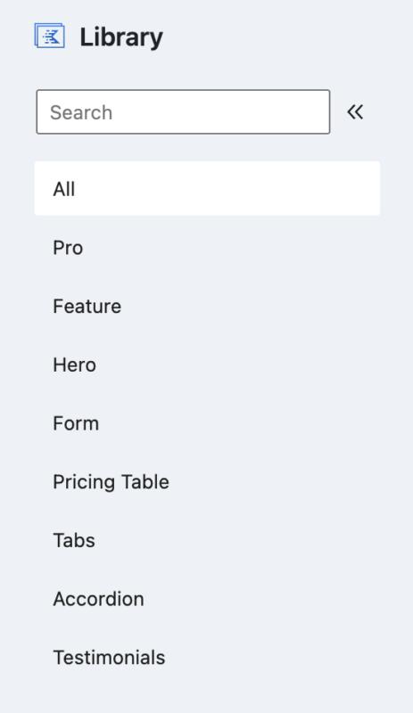 Kadence Cloud Library Categories