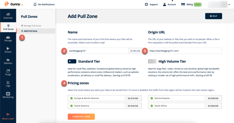 Bunny.net Add Pull Zone Tutorial