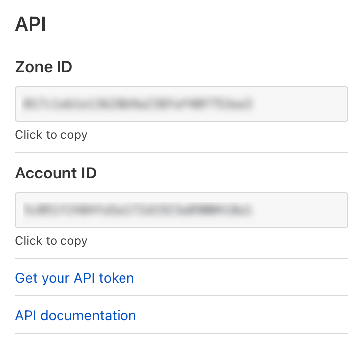 Cloudflare Zone ID and Account ID