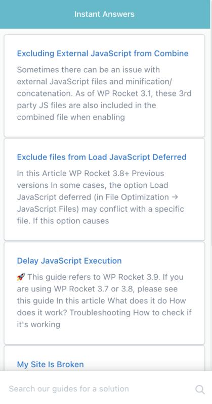 WP Rocket Documentation Need Help