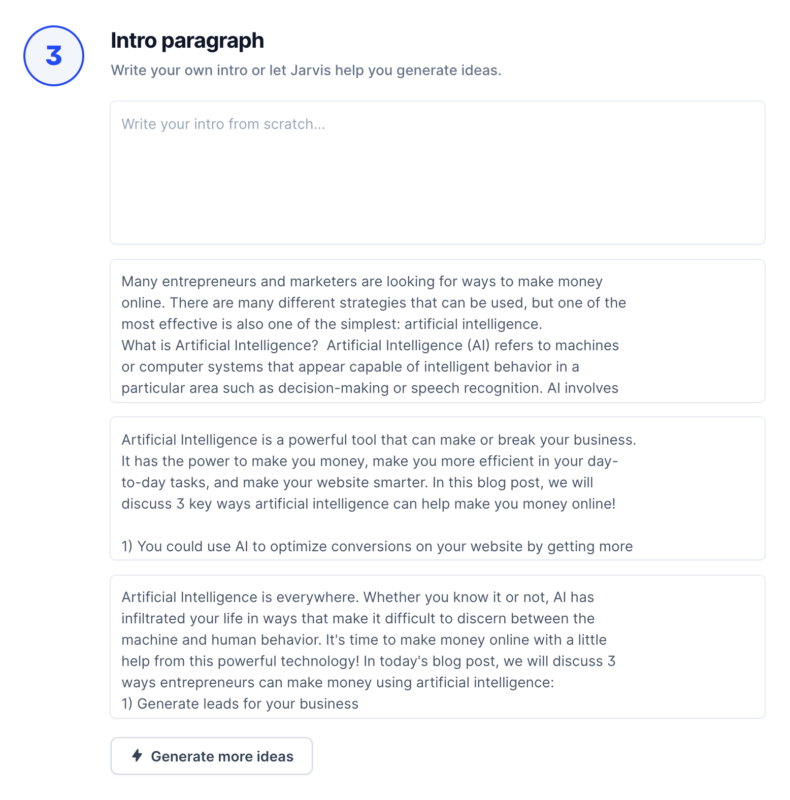 How to Write Blog Posts With Jarvis AI Intro Paragraph Examples
